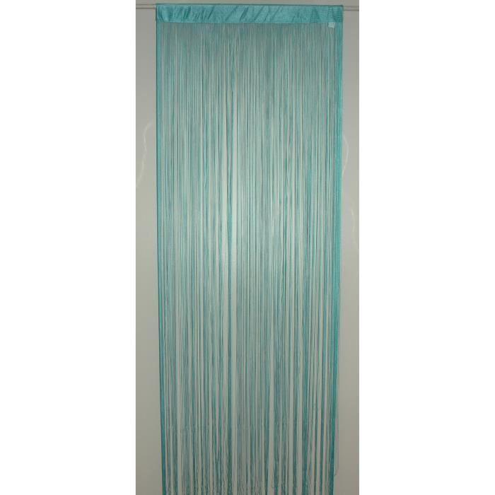 BRISE Rideau de Fils Mercerisés – Bleu Turquoise – H 90 x L 240 cm