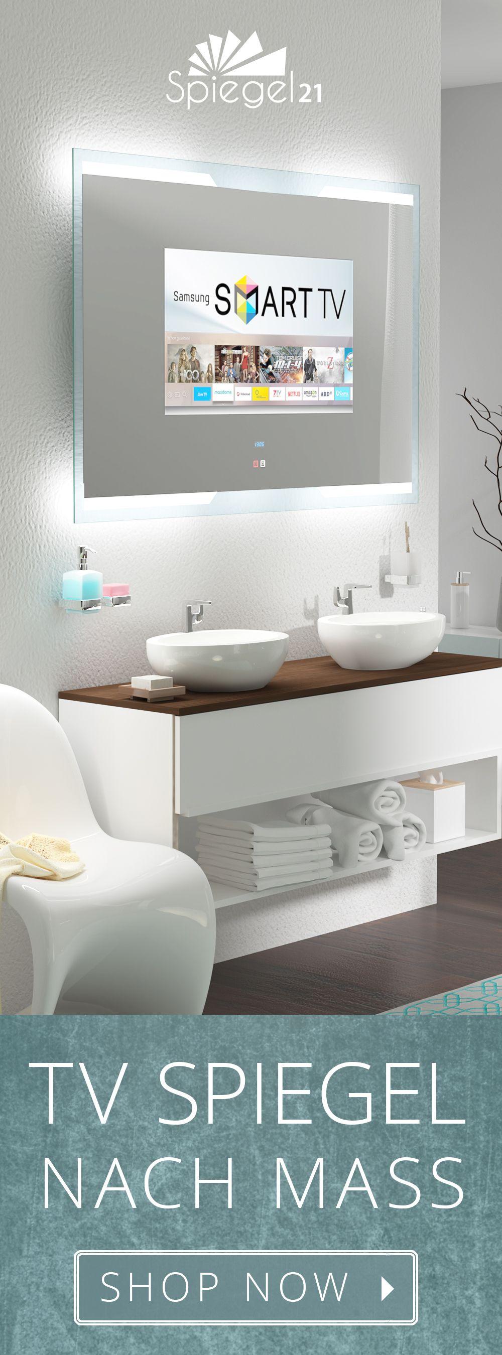 (Bain) miroir avec Smart TV 15,6 à 40 pouces // miroir de salle de bain avec télévision sur mesure