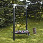 Balançoire cubique en bois double balançoire avec balançoire 9x9