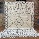 Beni ourain tapis 6.3ft x 9.2ft tapis tapis en laine, tapis beni ouarain, tapis berbère, tapis fait main, tapis tribal, tapis bohème, tapis berbere