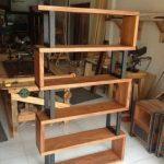Bibliothèque en bois et métal - #Bibliothèque #Hardwood #Metal #metall
