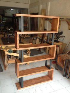 Bibliothèque en bois et métal – #Bibliothèque #Hardwood #Metal #metall