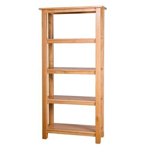 Bibliothèque haute de quatre tiroirs.  Meubles traditionnels en chêne massif a…