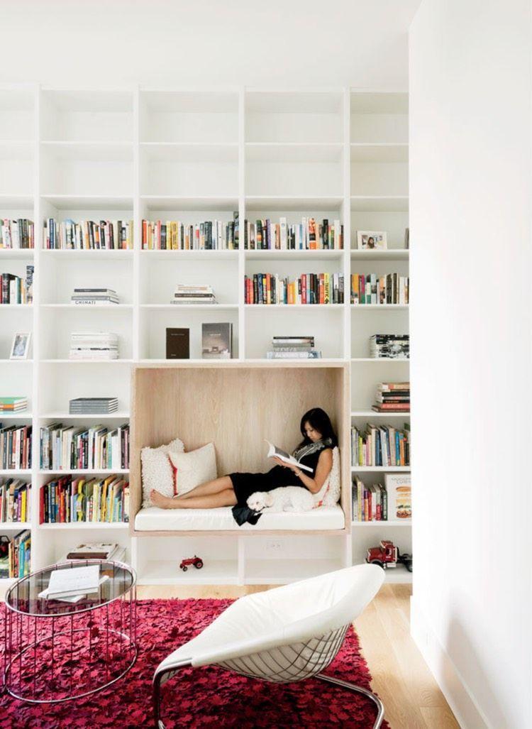Bibliothèque moderne à la maison – 20 idées pour l'intérieur contemporain