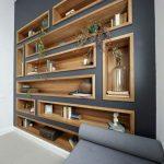Bibliothèque murale originale avec étagères murales en bois / blog.in