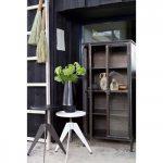 Bibliothèque vintage en métal et portes en verre Woood - PURISTIC