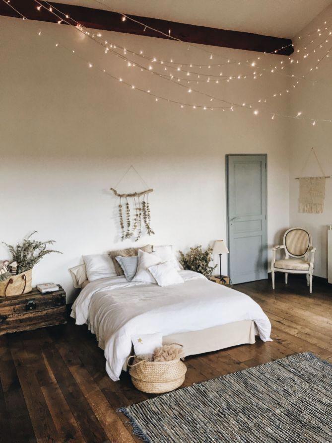 Bohème minimaliste avec des idées de chambre de pourvoiries urbaines 35 #bohemianbedroom