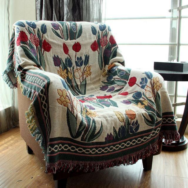 Bohemian Cotton Decorative Sofa Blanket Home Decor Tapestry