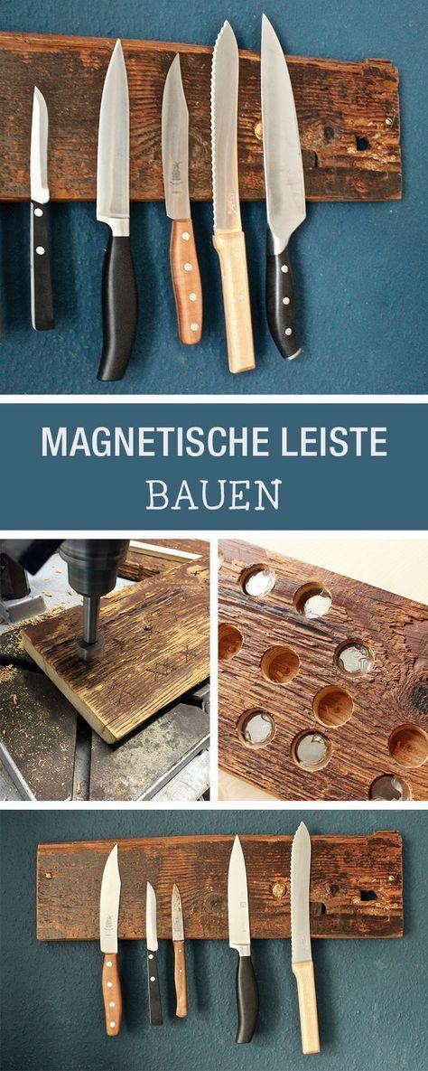 Bricolage: Bloc à couteaux en bois, bloc à couteaux suspendu / rangement …
