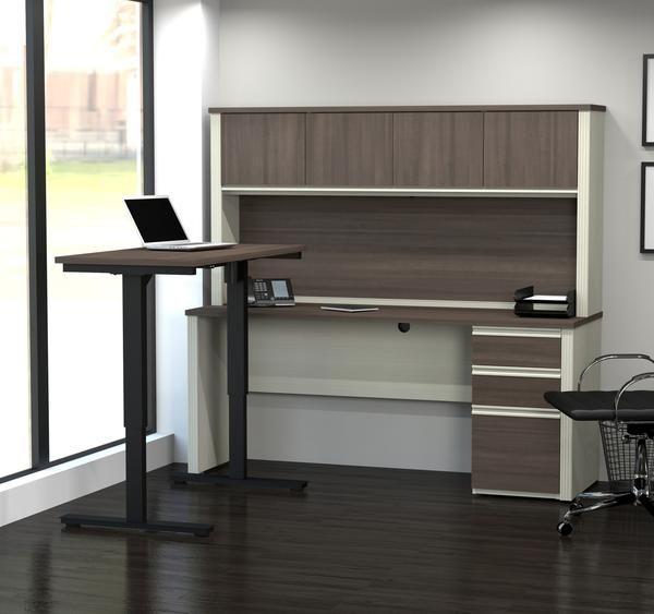 Bureau White / Antigua / Hutch avec bureau assis inclus