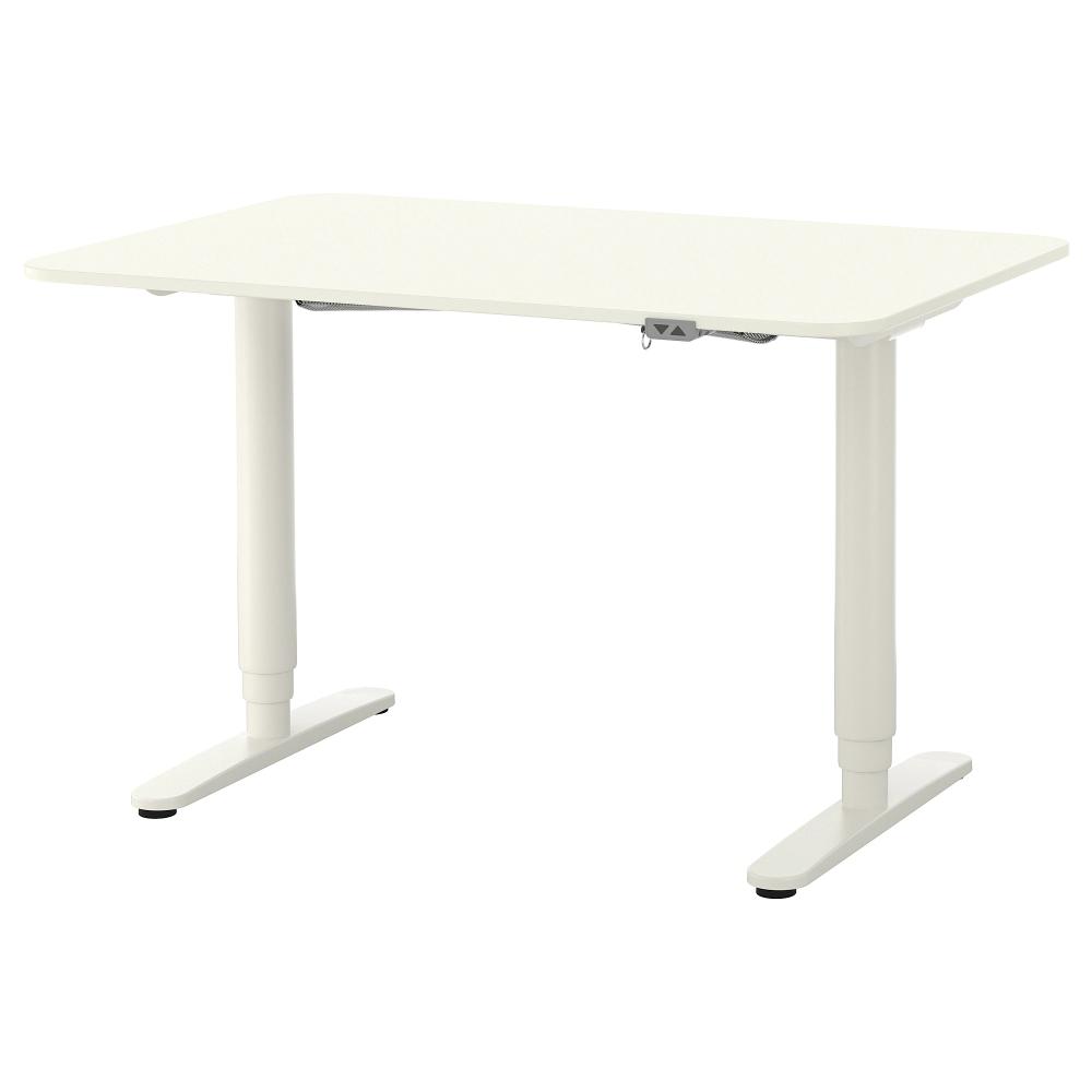 """Bureau assis / debout, blanc, 47 1 / 4×31 1/2 """""""