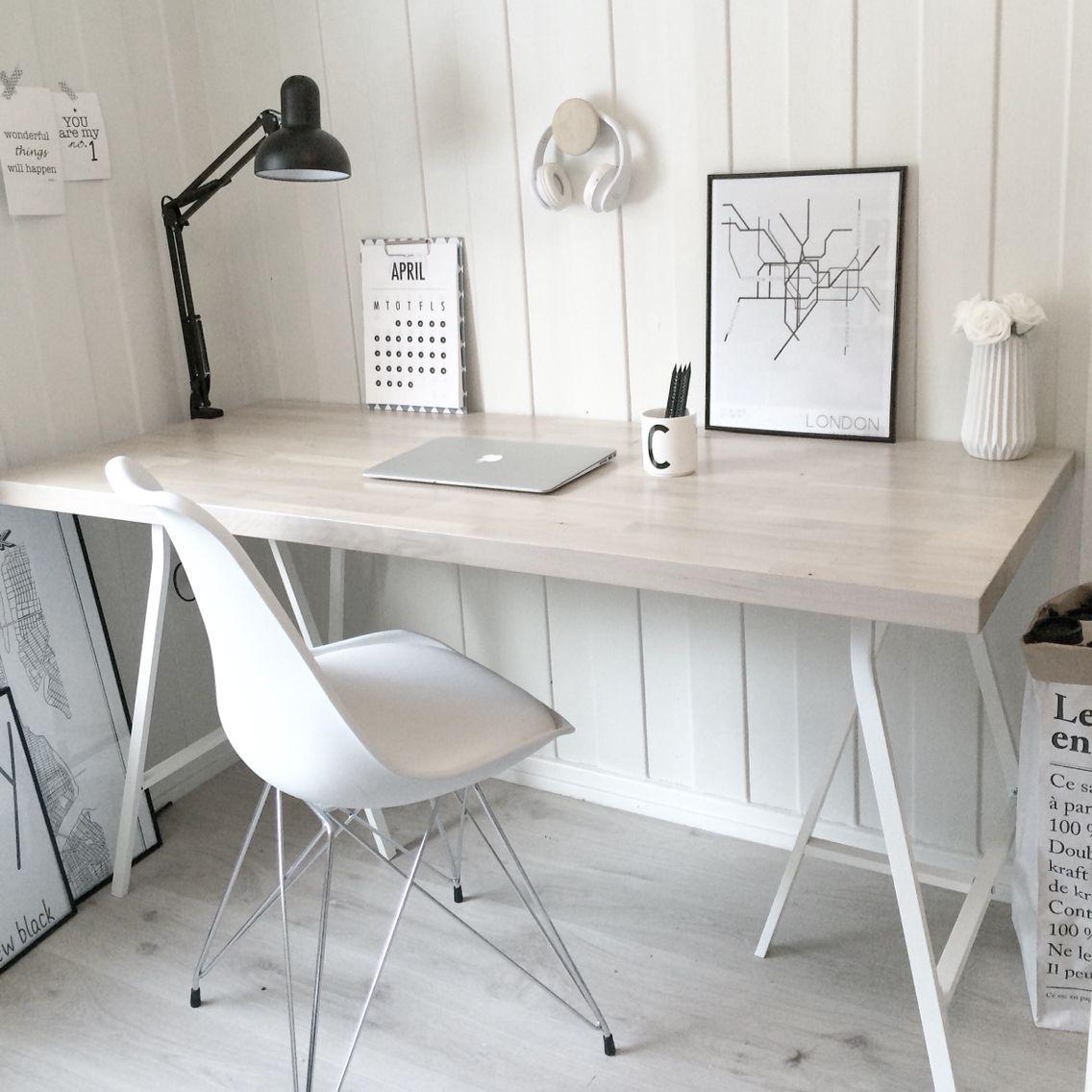 Bureau style nordique Instagram: villa_fredli