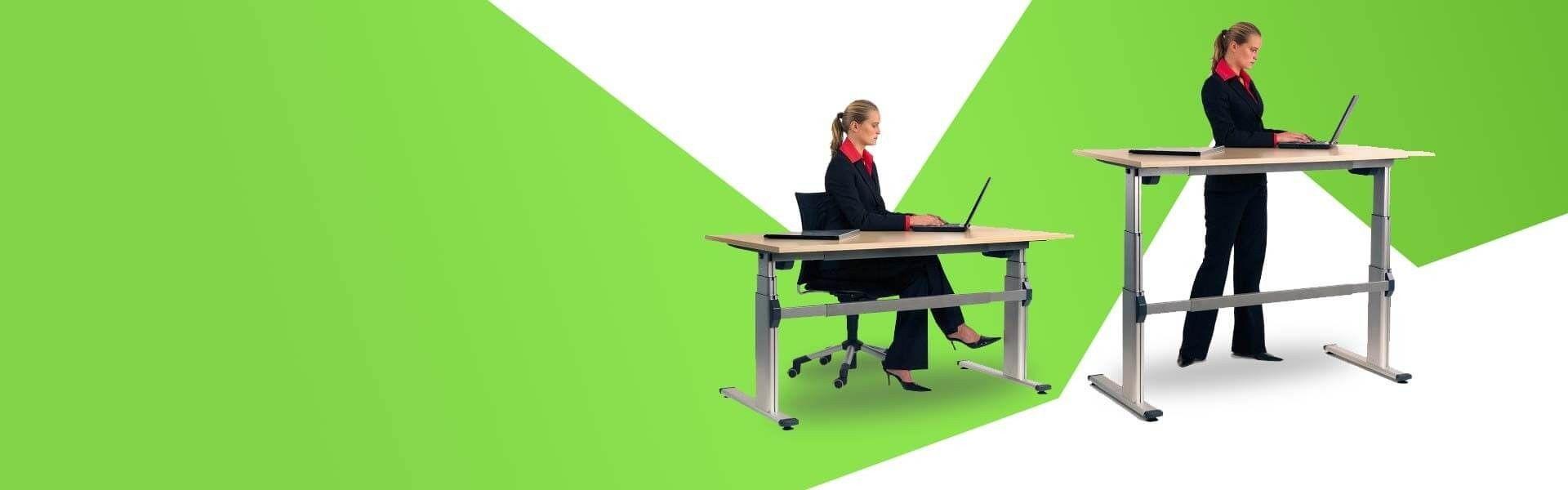 Bureaux assis debout électriques et manuels  Une gamme de bureau assis debout s…