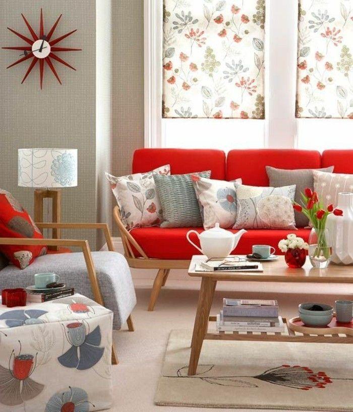 Canapé Rouge – 80 Modèles Fantastiques – Archzine.net- Rotes…- Canapé Rouge…