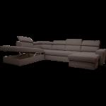 Canapé d'angle en forme de u convertible en tissu gris anthracite avec méridienne à droite - Alinéa