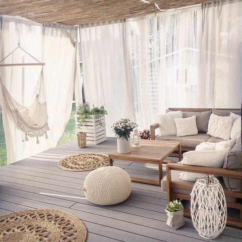 Canapé de jardin 5 pieces en bois d'acacia TIMOR # 5t – Petit jardin avant