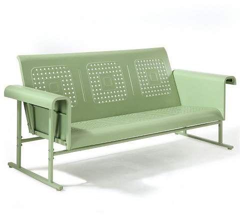 Canapé de patio à glissière de patio en acier robuste pour meubles de style Oasis Green-Crosley