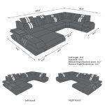 Canapé en Cuir Design Beverly Hills en U