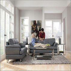Canapé en cuir gris, idées de décoration 2019 Canapé en cuir gris, idées de …