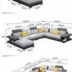 Canapé en tissu de luxe moderne de type U - My Aashis #livingroomsofaideaslargemirrors