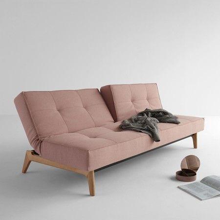 Canapé-lit Splitback chêne 210x95cm