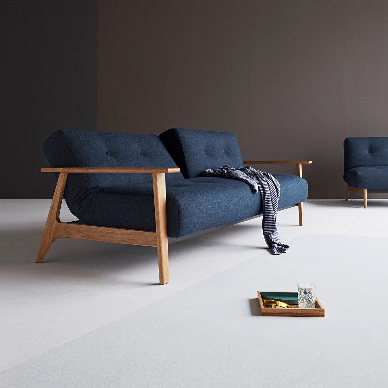Canapé-lit avec accoudoirs Ample Frej 234x90cm