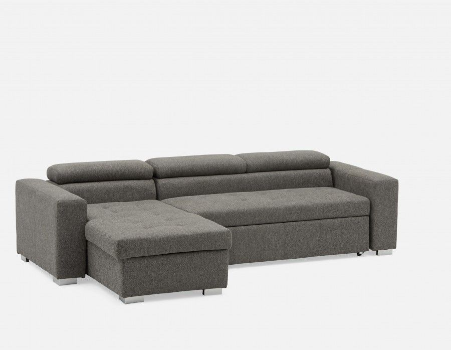 Canapé-lit d'angle interchangeable avec rangement STAN  