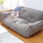 Canapé-lit moderne de plancher à 5 positions réglable à carreaux de style japonais ...