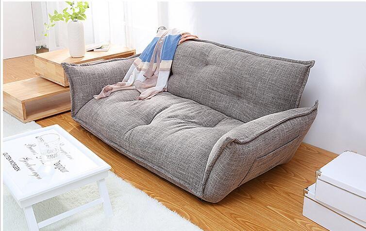 Canapé-lit moderne de plancher à 5 positions réglable à carreaux de style japonais …