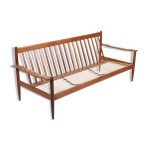Canapé trois places en bois de teck danois