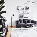 Canapés en velours gris