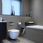 Carrelage gris pour la salle de bain - 61 photos qui vont vous impressionner!