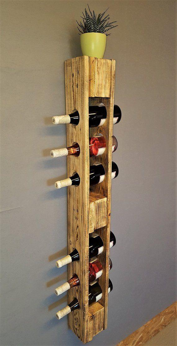 Casier à bouteilles vintage étagère à bouteilles étagère murale étagère à bouteilles étagères suspendues étagère à palette étagère en bois Shabby