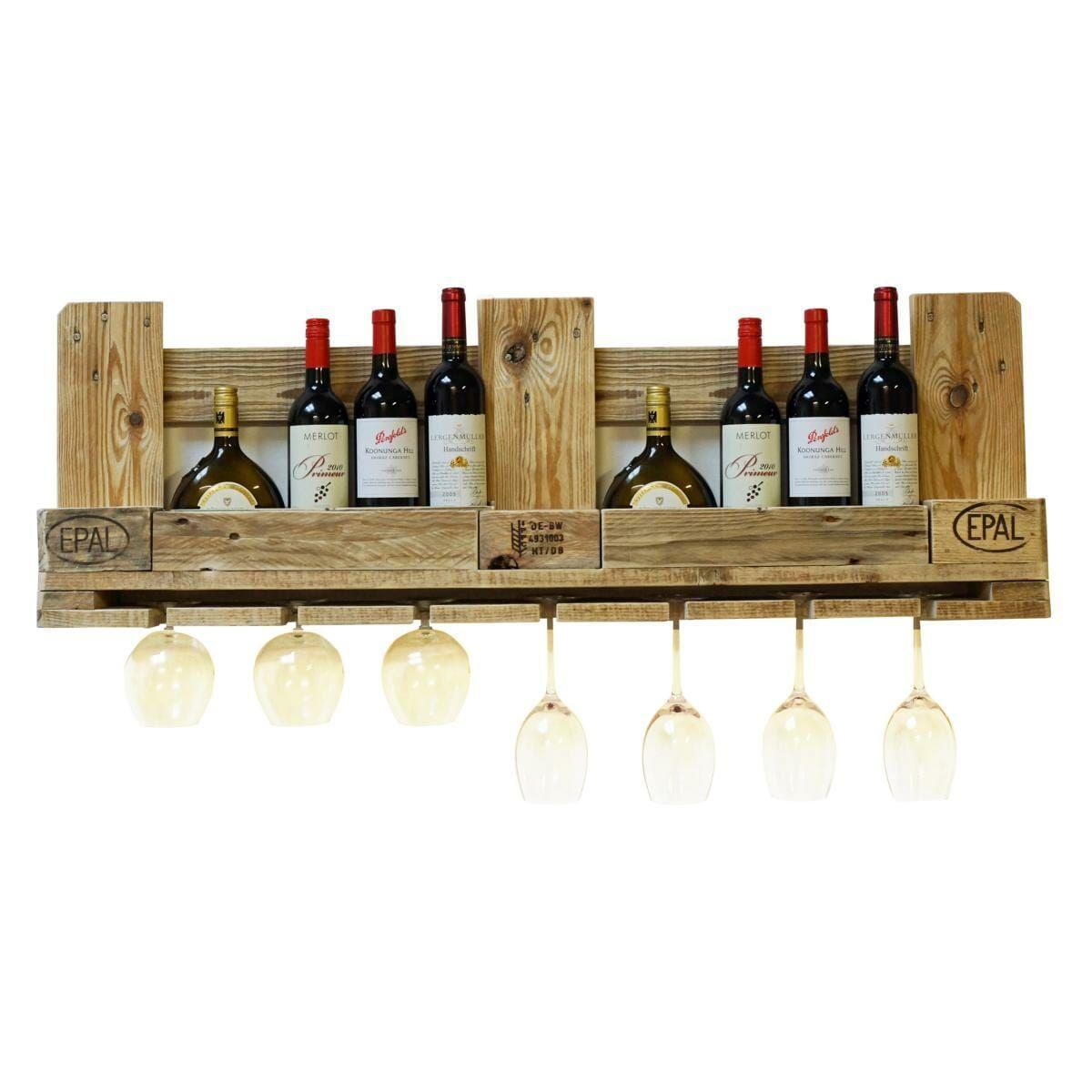 Casier à vin fait de palettes