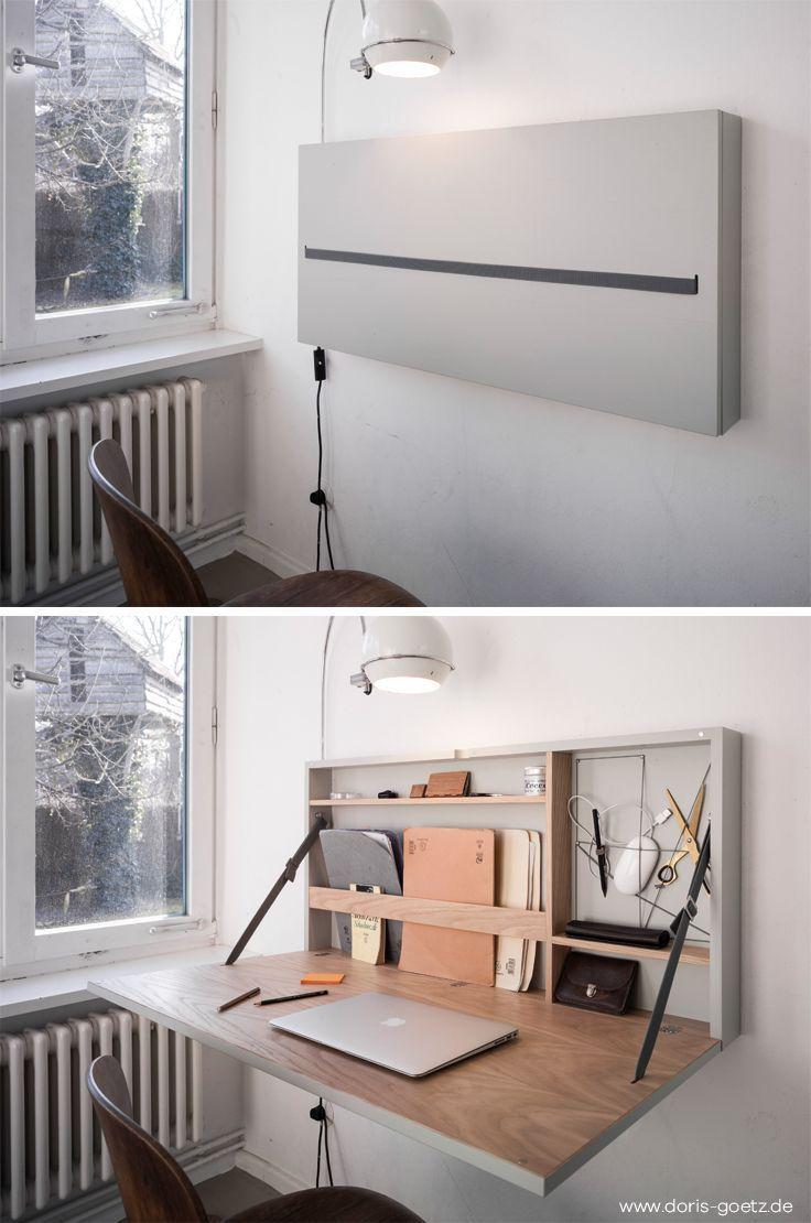 Ce bureau repliable imaginé par Doris Götz vous … – #Bureau #Ce #Doris #Göt…