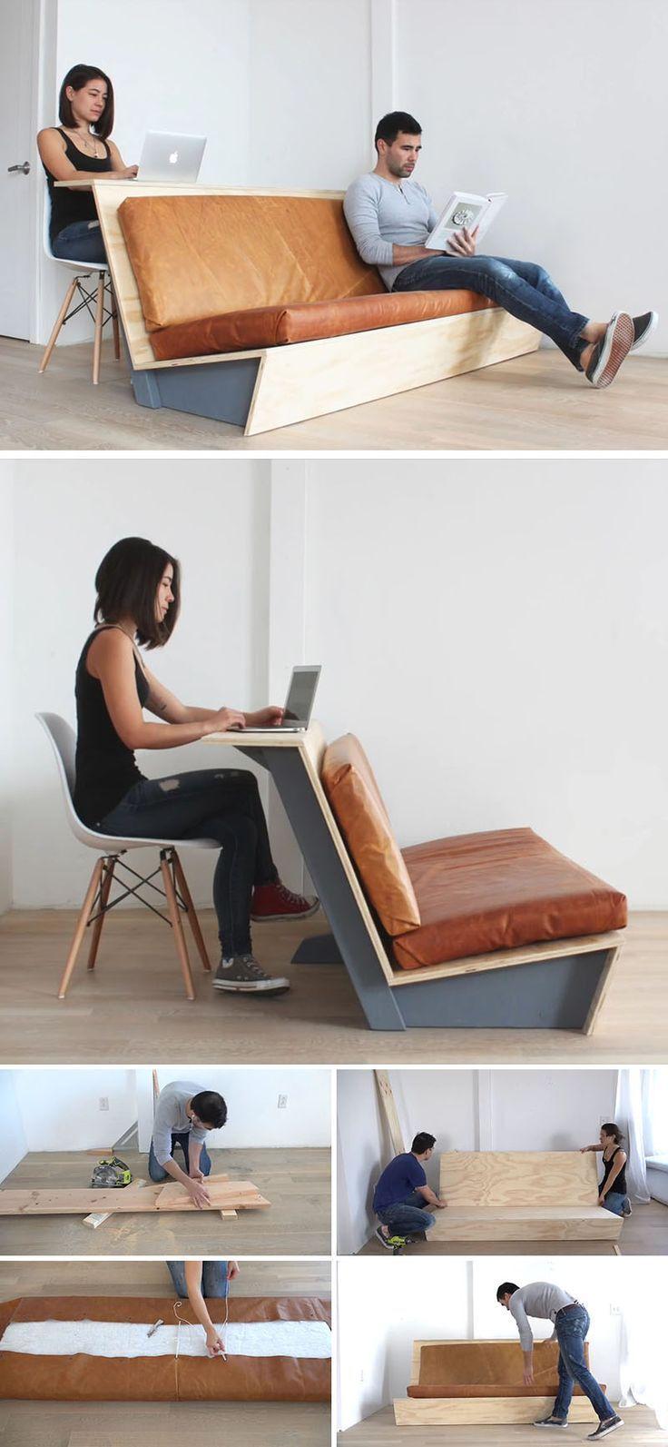 Ce tutoriel pour un canapé moderne vous montre comment créer un canapé avec un canapé.