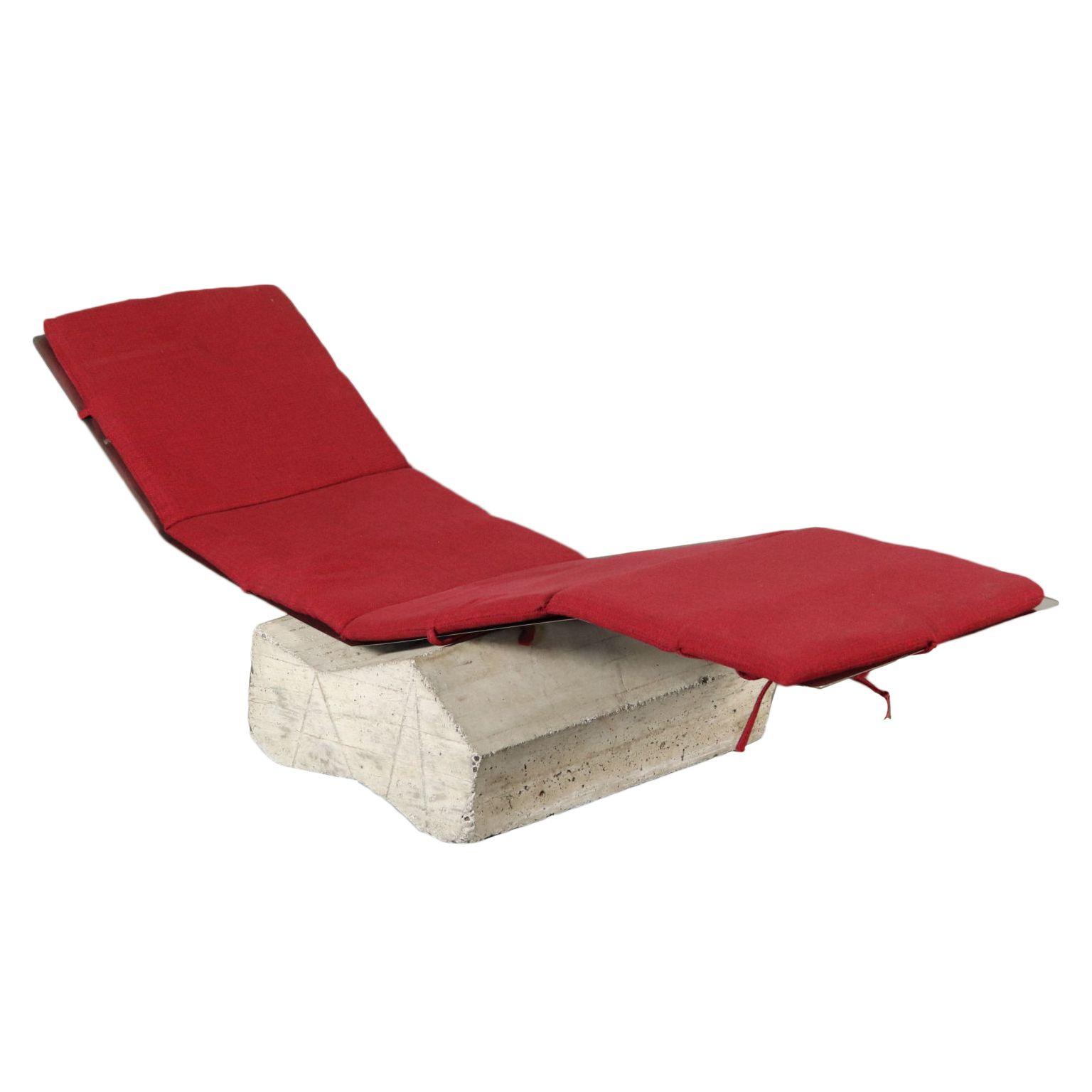 Chaise Longue Diapason Vintage Design Italie Des Années 70-80