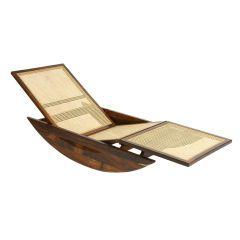 """""""Chaise Longue Rocking Chair""""  by Joaquim Tenreiro, Brazil, 1947"""