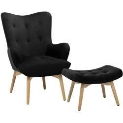 Chaise à oreilles avec tabouretWayfair.de