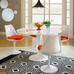 Chaise d'appoint Odyssey | Tissu blanc + rouge