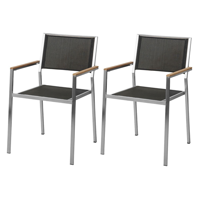 Chaise de jardin Teakline Premium I (ensemble de 2) – Textilène / acier inoxydable Commandez maintenant …