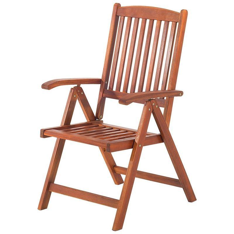 Chaise de jardin inclinable en bois TOSCANA – 2645