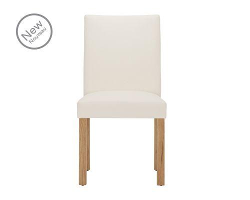 Chaise de salon Parsons – Chêne (ensemble de deux) – Entré en blanc ou noir, avec fonc …