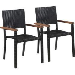 Chaise en rotin blanche / beige / plastique turquoise Acapulco BelianiBeliani