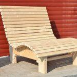 Chaise longue Relax Bain de soleil Chaise longue en bois POUR terrasse balcon