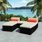 Chaise longue vidaXL Modular 14 pcs. Poly rotin noir canapé de jardin meubles de jardin …