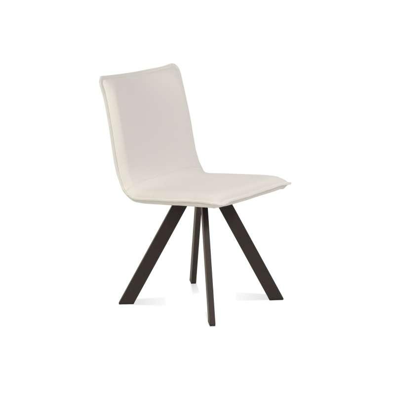 Chaise moderne en synthétique et métal – Denia Moblibérica®