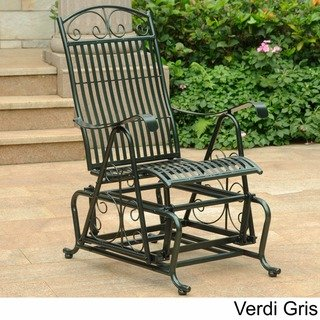 Chaise pour planeur en fer Mandalay International Caravan (Verdi Gris), Vert, Terrasse