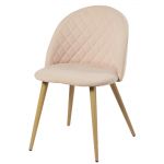 Chaise vintage rose clair
