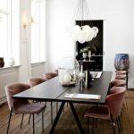 Chaises modernes Salle à manger Grande table à manger Plancher - # Chaises #Diner # Étage #lar ...
